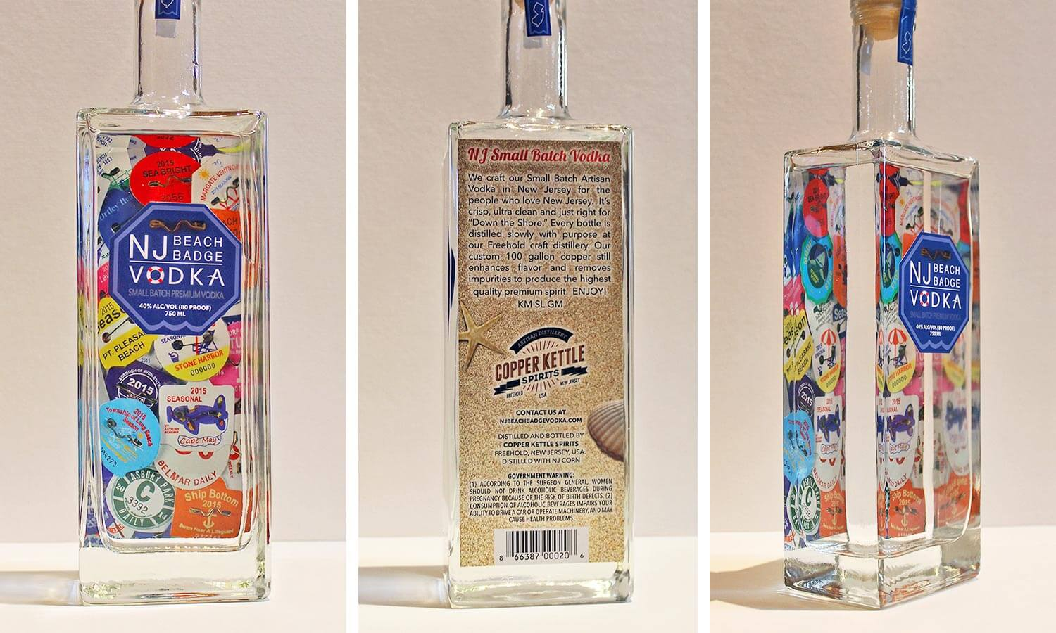 NJ Beach Badge Vodka Branding