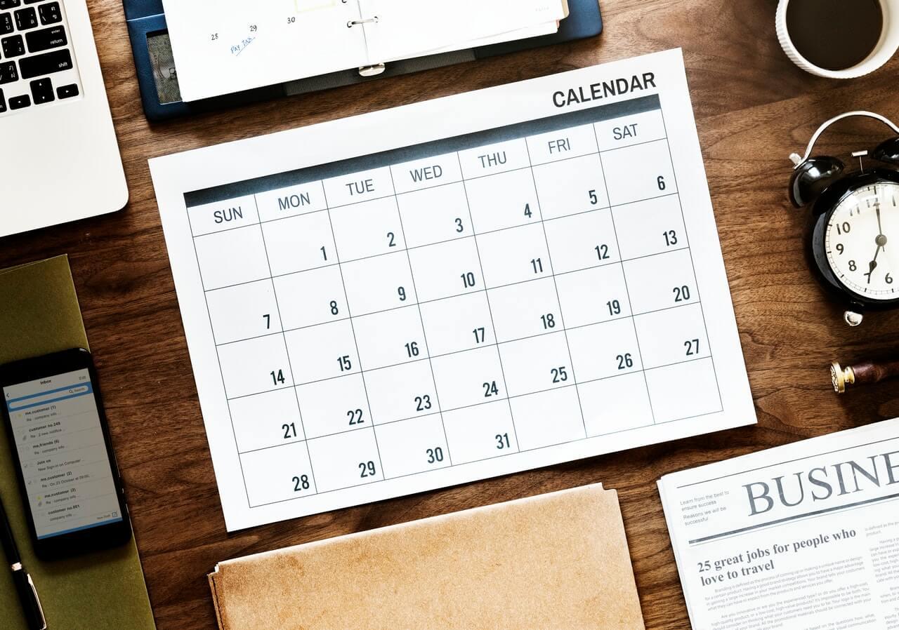 editorial calendar 2019