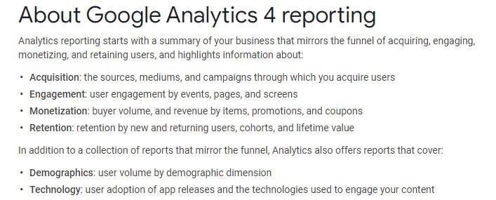 Google Analytics 4 Reporting